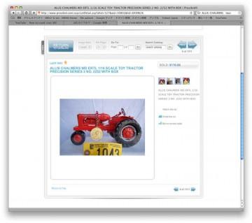 アルミダイキャストモデル110ドル。アンティークトイのサイトなんかも大にぎわいです。