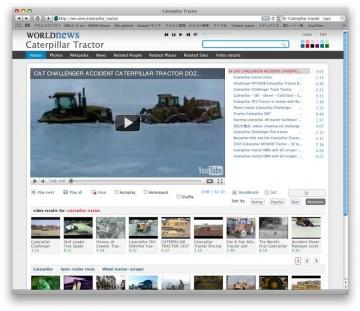ニュースサイトの中には世界中からキャタピラーの映像や写真を集めているらしきものもありました。冒頭にあるのはなぜか氷にはまったブルドーザーです。