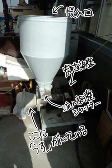 粉挽き機の写真