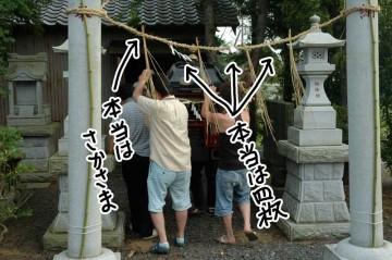 和紙の紙のびらびら(イナズママーク)紙垂(しで)の数やその他が間違ってました。