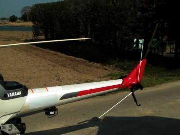 ヤマハ産業用無人ヘリコプターRMAXのしっぽ