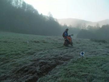 2日目の朝には霜が降りています