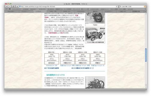 愛知機械工業(http://www.aichikikai.co.jp/)のWEBページの中に東洋社の日の本トラクターのエンジンの話が載っていました。