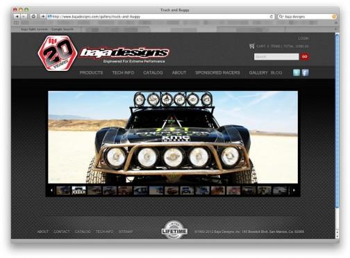 そのBAJAデザートレースにLED/HID/ハロゲンと凶暴なレーシングライトシステムを供給し続けて20年。http://www.bajadesigns.com/