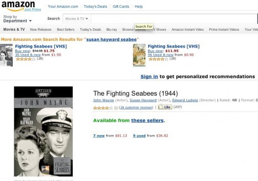 The Fighting SeaBees DVD