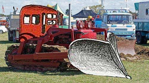 これにキャブとsnow plow を付ける・・・