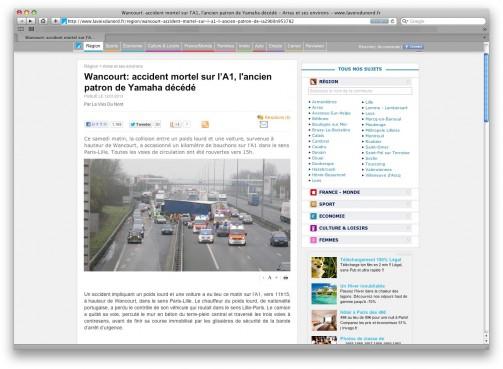 パリの高速道路ですねえ・・・