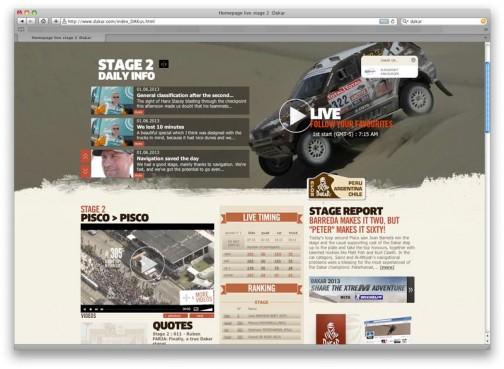 ケーブルとかの契約をしていなくてもネットのコンテンツが充実していてリアルタイムに追っかけられます。http://gaps.dakar.com/2013/dakar/stage-02/aso/ukie.php