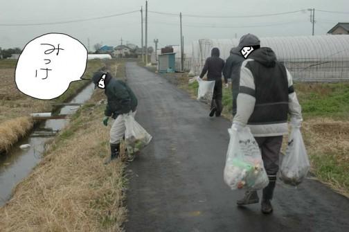 ぐるっと回ると持っている袋もずいぶん重くなります。