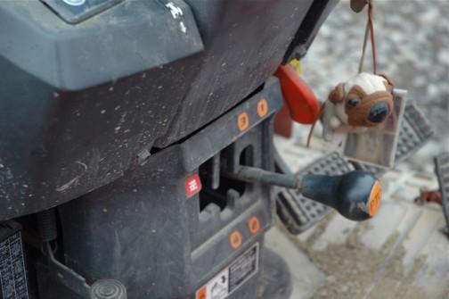 PTOのパターンと犬のキーホルダー、両方撮りたかったんだな・・・きっと