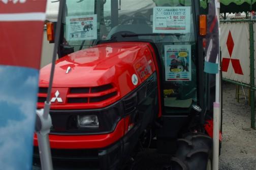 JA独自型三菱トラクタ Mitsubishi Tractor GX511XET-Z 51馬力 排気量2505cc 水冷4サイクル4気筒ディーゼル 価格¥3,980,000 基本性能重視低価格トラクタだそうです。必要機能のみ装備(クイックアップ、耕深・水平制御、シャトルレバー)←この先は隠れて読めません。