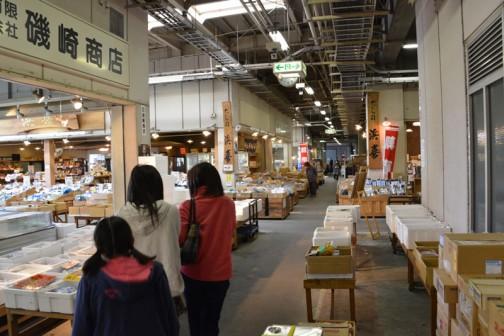 水戸市公設地方卸売市場、中の様子