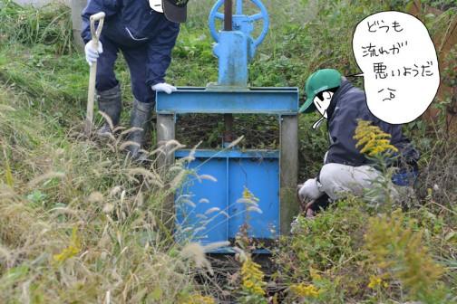 水路の泥上げ 島地区農地・水・環境保全会