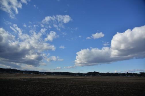 地面はいろいろ変わりますけど、相変わらず空は青いです。
