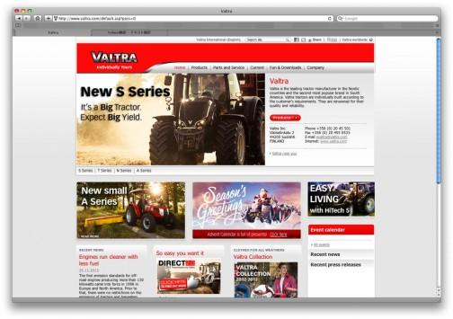 クリスマスで賑やかなサイトです(http://www.valtra.com)。なかなか楽しい・・・
