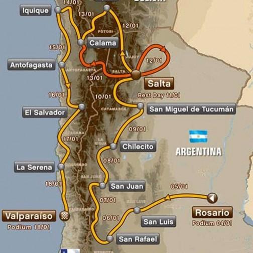 2014年はアルゼンチンをスタートして、ボリビアを通り、チリのゴールです。