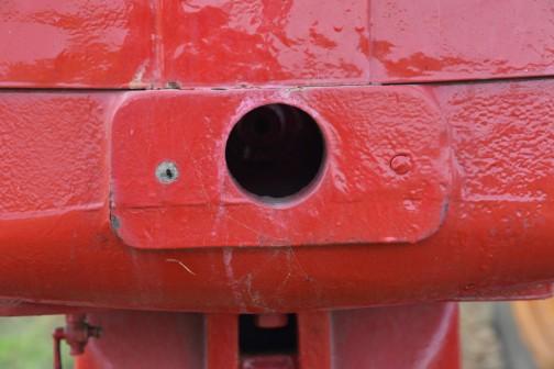 インターナショナルB450 ここにクランクを突っ込むのでしょうか? この部分は鋳物のようです。お金かかってます。