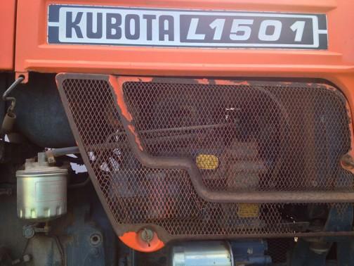 クボタL1501 シャシ部分のブルーグレーとボディのオレンジの組み合せ、なかなかいいですよね