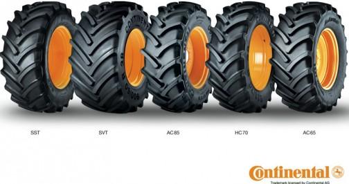 トラクターのタイヤはパターンの自己主張が強い! こちらは扁平タイヤ