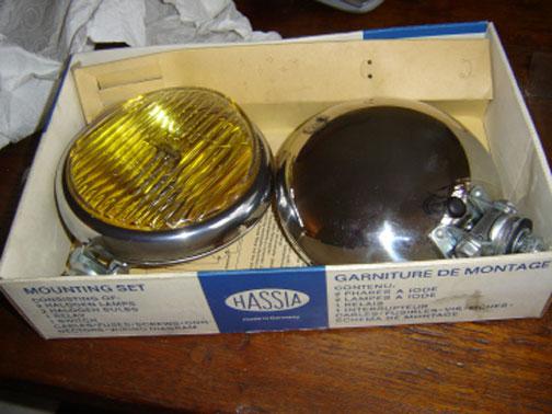 HASSIAランプ。車用はフォグランプなど。マークが同じですね!