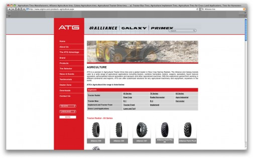 Alliance Tire Companyのウェブサイト。紆余曲折あって、1992年に現在の形になったようです。