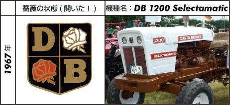 デビッド・ブラウントラクター1200セレクタマチック 1967 67 hp (72 hp 1968) 1968  David Brown 3.6L 4-cyl diesel