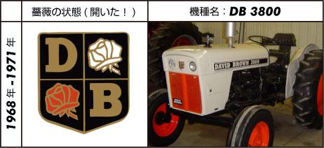 デビッド・ブラウントラクター3800 ガソリンエンジン 1968 - 1971 David Brown 2.4L 3-cyl gasoline 38hp