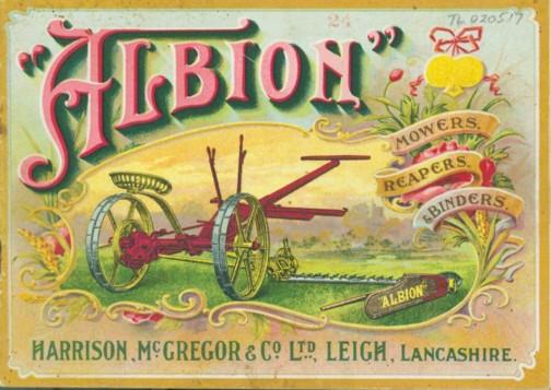 ハリソン・マクレガー社の商標アルビオン なかなか素敵なポスター!