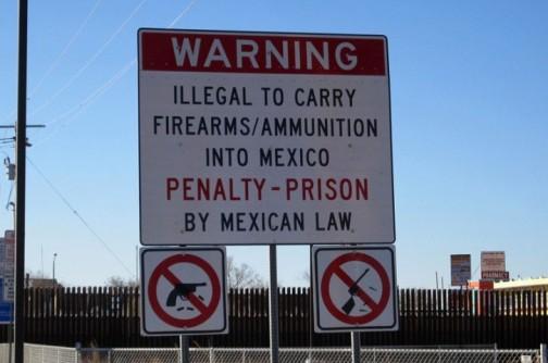 言葉がわからなくても銃器の持ち込みがいけないってことはすぐにわかりますね!