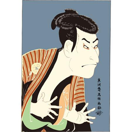 もしくはこんな歌舞伎顔。でもちょっと目がシジミクラスに小さいか・・・レクシアはハマグリクラス。