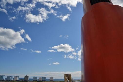 1年ぶりの苫小牧の空はオモチャかマンガみたいな色(写真は本文と関係ありません)