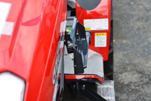 mitsubishi ASUMA tractor GE150DJBS2WB 価格¥1,679,400 燃料タンク置きはこのとおり。