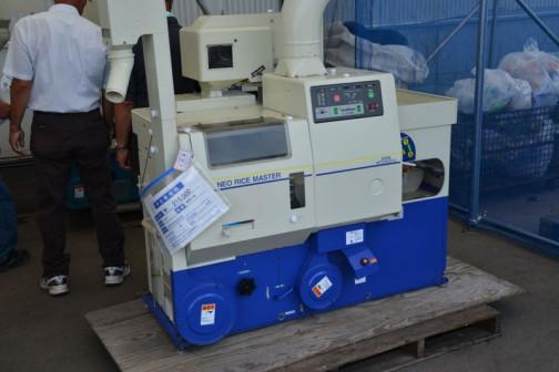 サタケ 籾摺り機 NPS350DXA 丸ベルト ロール交換済み 中古価格¥216,000