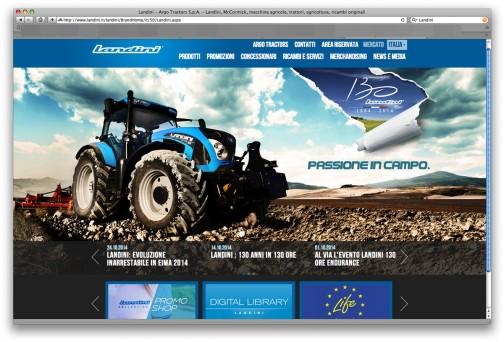 イタリアのLandini社(ランディーニとでも読むのでしょうか?)のWEBページ。なかなかカッコいいなあ・・・イセキと同じ青のトラクターです。