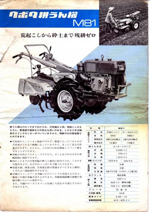 クボタ耕うん機M81 荒起こしから砕土まで残耕ゼロ