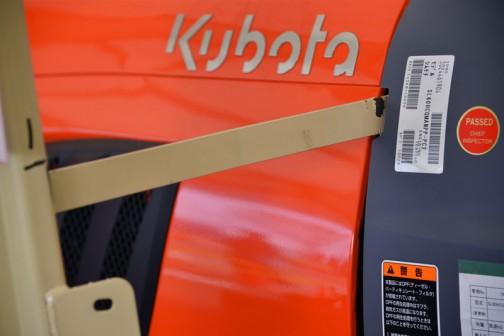 クボタトラクタースラッガーSL60安全フレーム試験機。Kubota tractor SL60 safety frame strength test sample