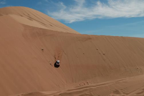 砂丘の逆落とし