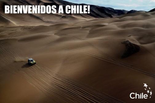 チリへようこそ!って書いてあります。広いなあ・・・いいなあ・・・走ってみたい。