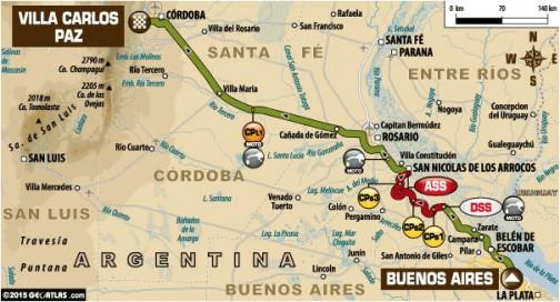 今日は(といっても時差の関係で向こうは1月4日ですが)ブエノスアイレスからコルドバまで、リエゾン663キロ、SS170キロの833キロの行程・・・初日は肩ならしでしょうが、気が遠くなります。