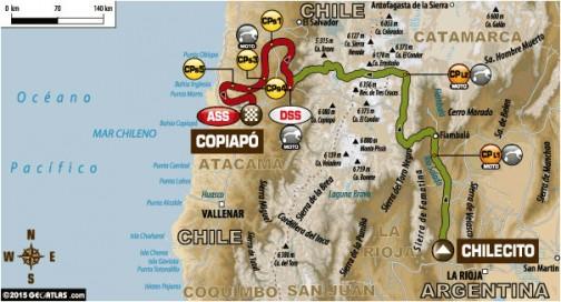 4日目はチレシート→コピアポ 国境越えの長い長い移動区間を594km、その後スペシャルを315kmこなしてゴールです。