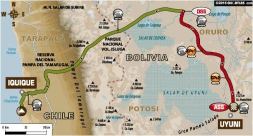 トラック以外はみんな同じルート。移動区間は396km、SSは321キロのマラソンステージです。