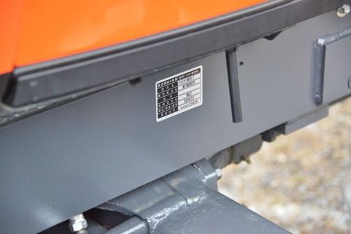 機械の種類としては「農用トラクタ(乗用型)」形式名は「クボタMR97」販売形式名は「MR97QMAXWUR3PP」車両形式名が「MRZ」