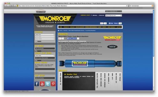 現在のモンローも「モンローマチック???」ってのを出してます。正確にはMONRO-MATIC plus。Eが抜けていて、なぜMONROE MATICではないのかは謎です。
