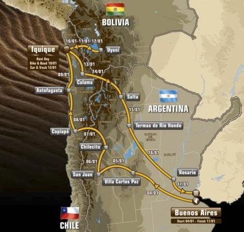 ブエノスアイレスをスタートし、3カ国、2週間のハードなラリーです。