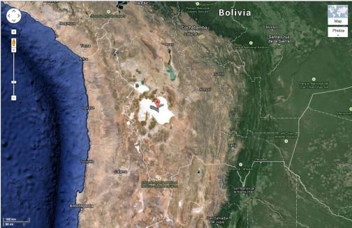 グーグルマップで表示すると一目瞭然!宇宙からもわかるほどの大きさ。