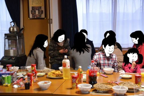 お母さんたちは女子会。