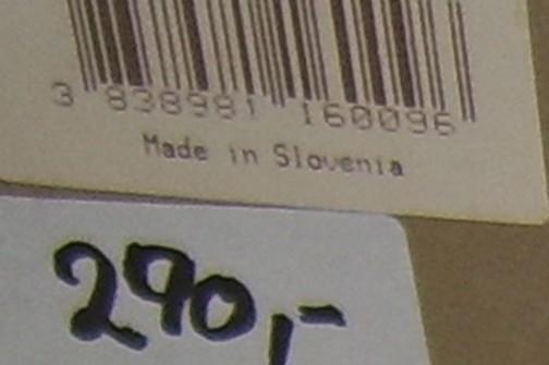 さらに箱を拡大してみてみると、made in slovenia スロベニア製だ!