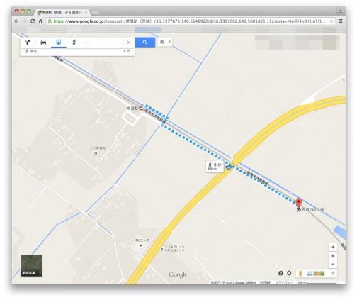 なんだかみとちゃんの田んぼアートの場所を知りたくてこちらを訪れる人が多いようなので、地図を載せておきます。  座標でいえば 36.337774,140.564663  鹿島線の常澄駅から徒歩8分650m
