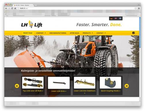 LHリフト(http://lhlift.fi/en/)というフィンランドの会社の製品でした。こういうものの専門メーカーがいろいろあるんですねえ・・・