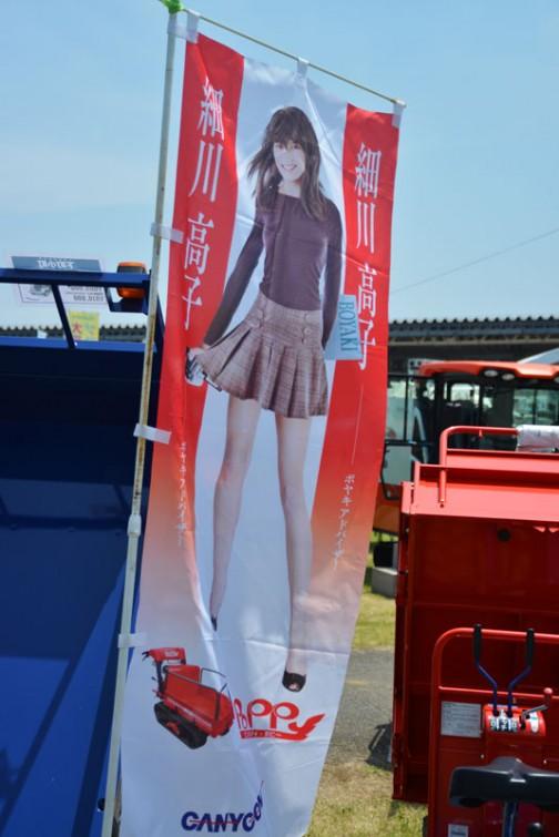唐突に大きく漢字で『細川高子』とあります。よく見ると下のほうにクローラ式の運搬車の写真が・・・